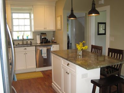 Pictures- small kitchen island with seating on end - Kitchens Forum