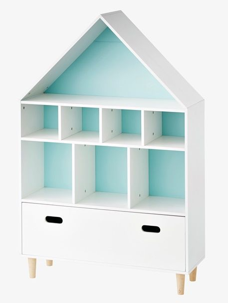 Meuble de rangement 9 cases Maison - blanc/bleu Pinterest