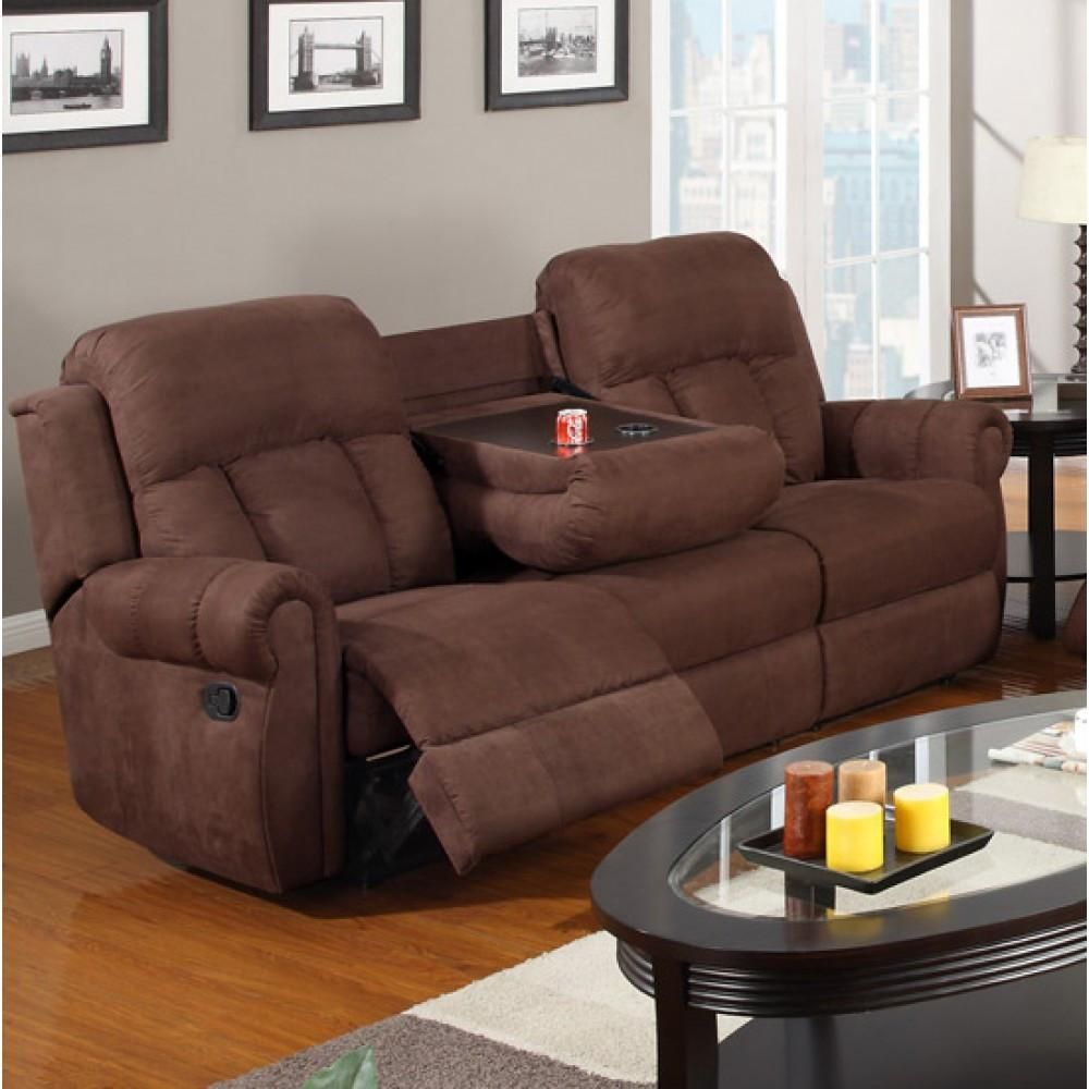 Chocolate Microfiber Motion Sofa Pd7049 Couch Couches Sofas Recliners Whole