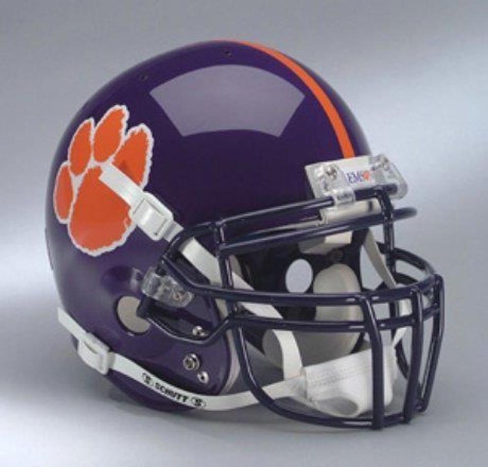 Purple Helmet Football Helmets College Football Helmets Clemson Football