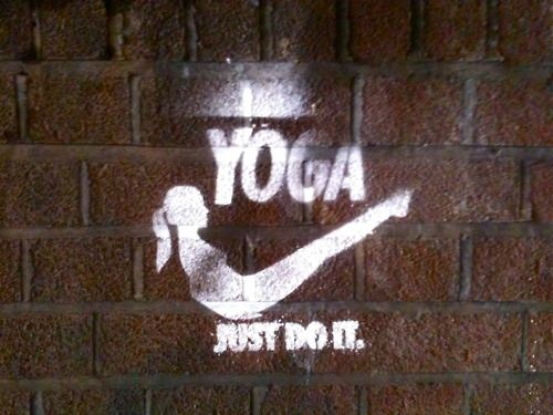 Yoga. Just Do It. Love this! #nike