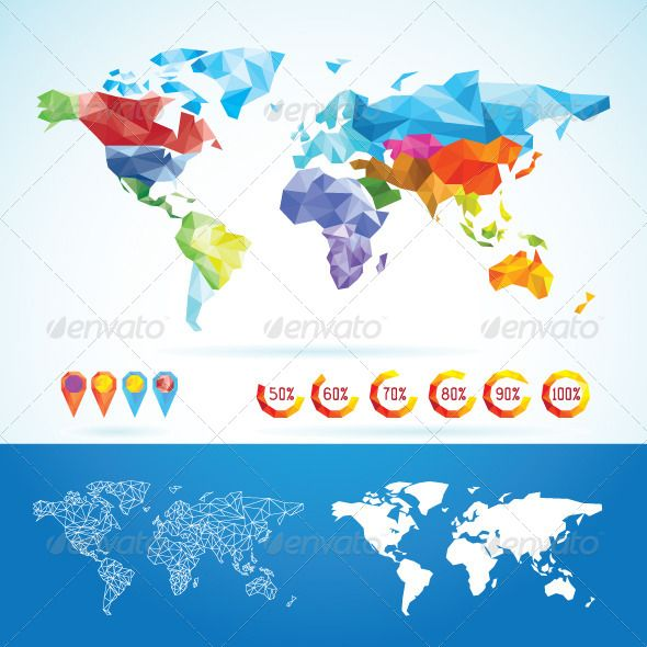 World map low poly low poly vector pattern and font logo world map low poly gumiabroncs