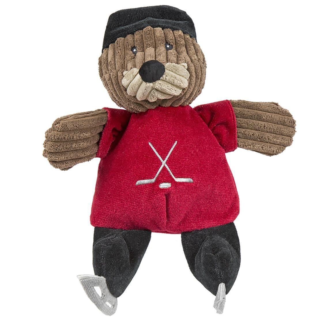 Hugglehounds Chubbie Buddie Plush Dog Toy Fox Hockey Player