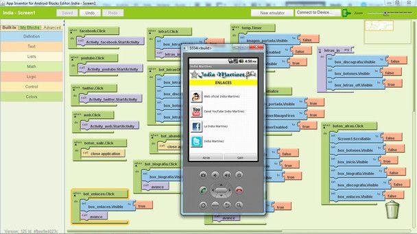 App Inventor Inventores, Programacion, Sistema operativo