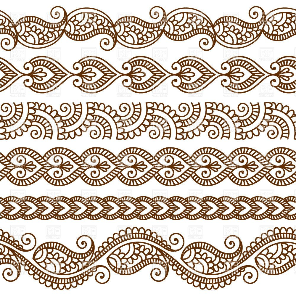 fdf9babfabc81 Download royalty free Borders and frames in mehndi style - ethnic ornament  vector image #28528