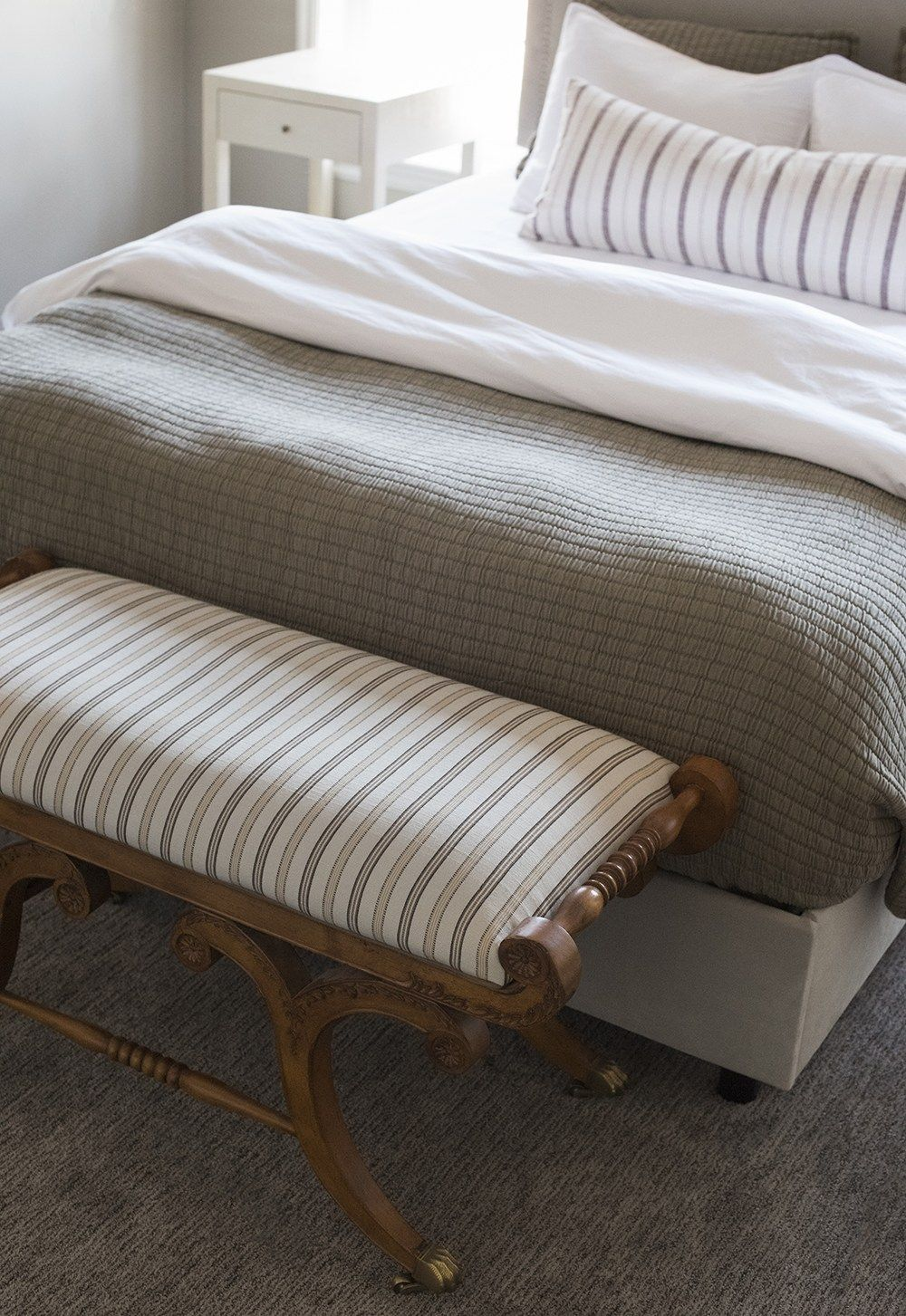 Roundup Ottomans Benches For The End Of Your Bed In 2020 Romantic Home Decor Bedroom Ottoman Guest Bedroom Design