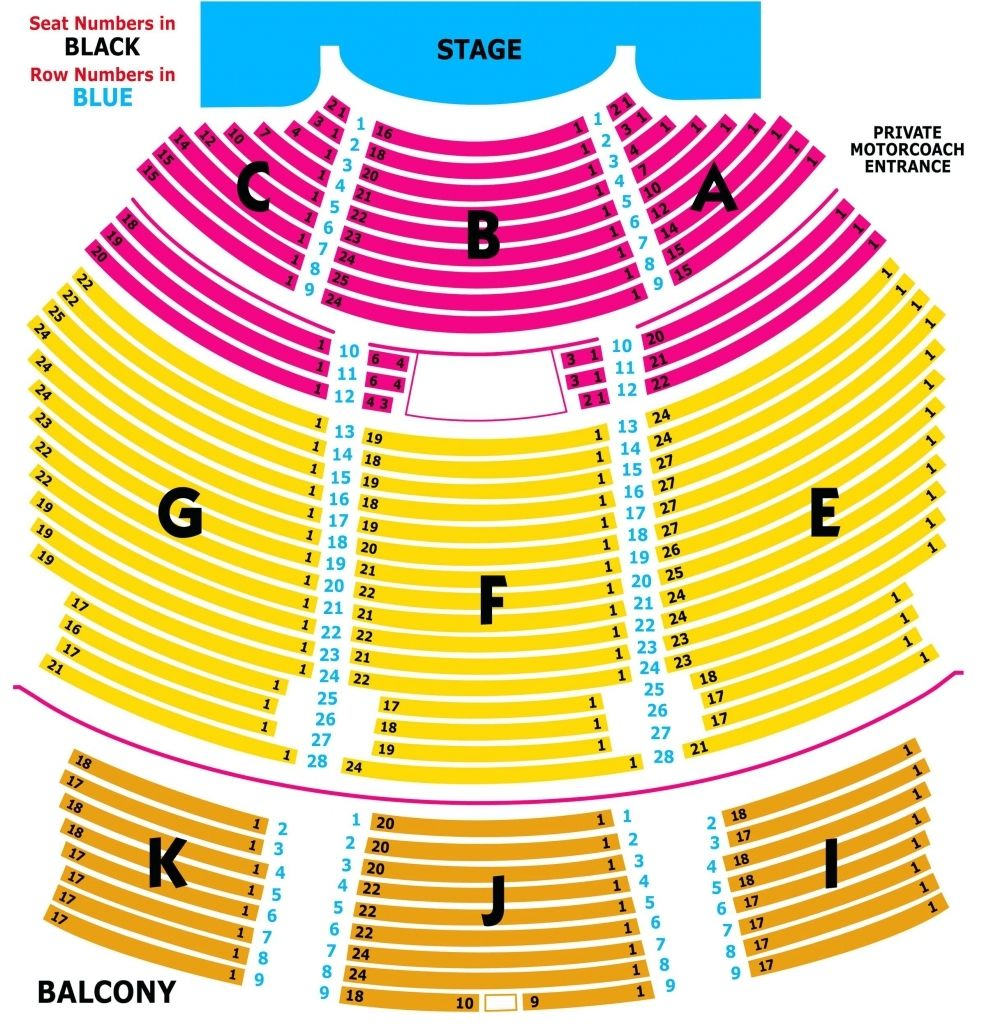 Verizon Theatre Seating Chart With Seat Numbers