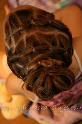 cute idea but i would just braid it instead of  using all those rubber bands : )