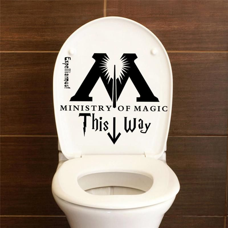 Photo of Harry Potter Ministry Of Magic This Way Vinyl Toilet Seat Sticker/Decal
