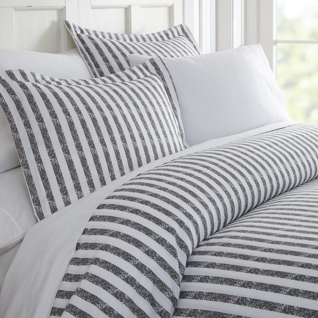 Rugged Stripes Patterned 3 Piece Duvet Cover Set Striped Duvet Covers Duvet Cover Sets Duvet Cover Pattern