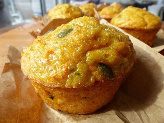 Muffins de quinoa aux carottes et au chèvre frais ...