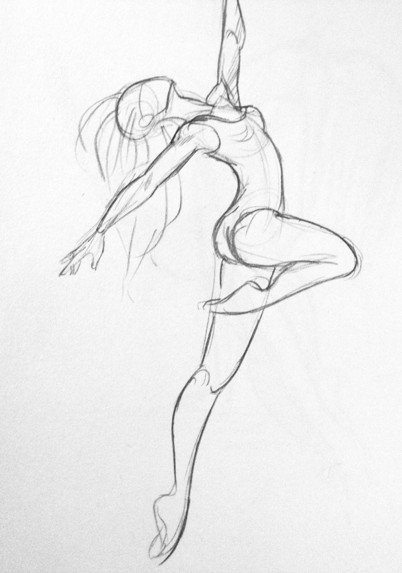 Some dancer sketches. For some I used some photo\'s from pinterest to ...