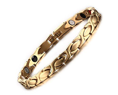 Anium Stainless Steel Magnetic Therapy Bracelet For Womens Gold More Info Could Be Found