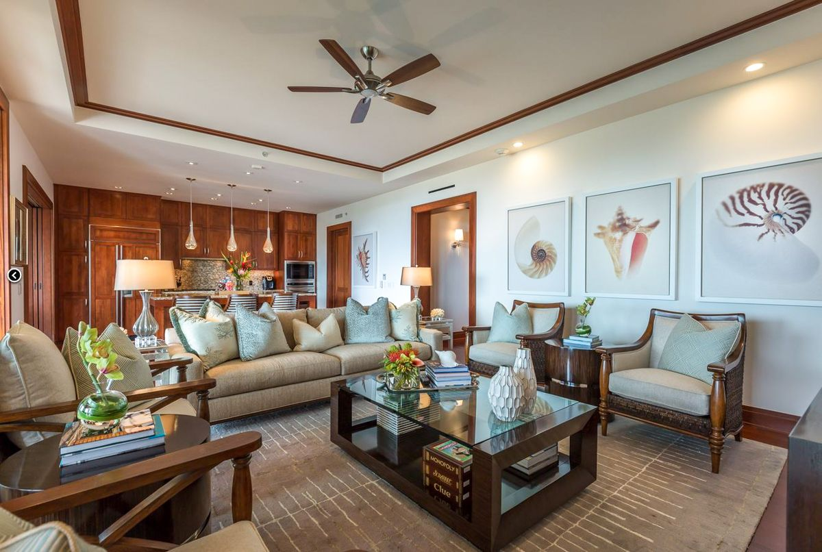 Tropical elegant hawaiian living room living rooms by bassman blaine home pinterest for Elegant coastal living rooms