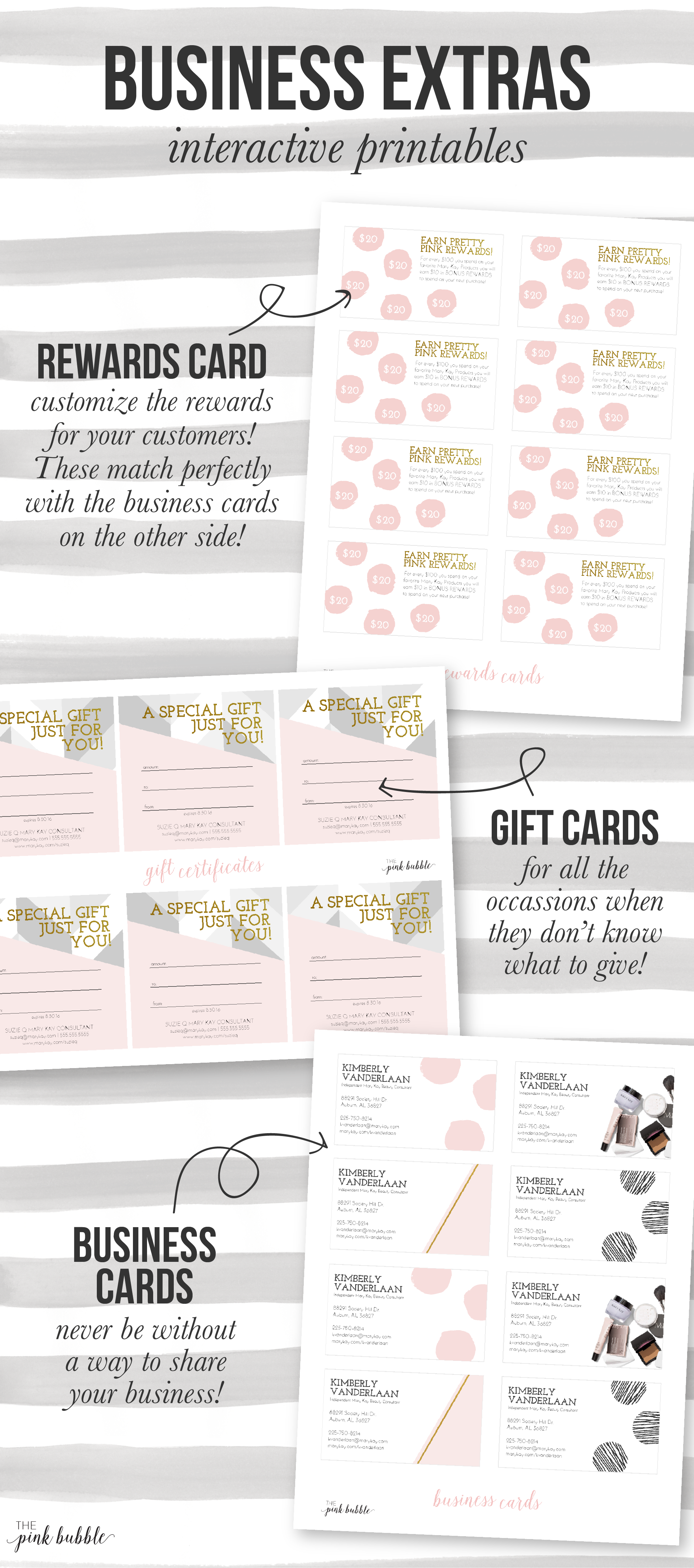 Customizable Mary Kay Business Extras! Including rewards cards ...