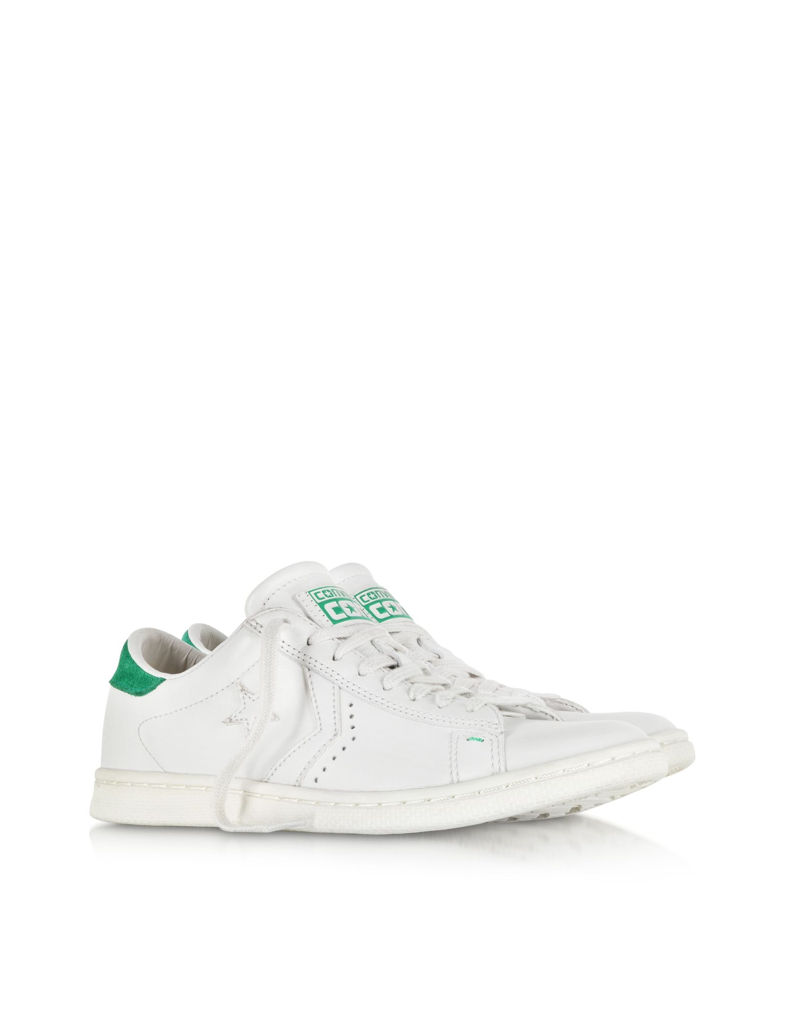 6f4cfe11b8d Converse Limited Edition Cons Pro Leather LP Ox White Dust and Green  Sneaker.