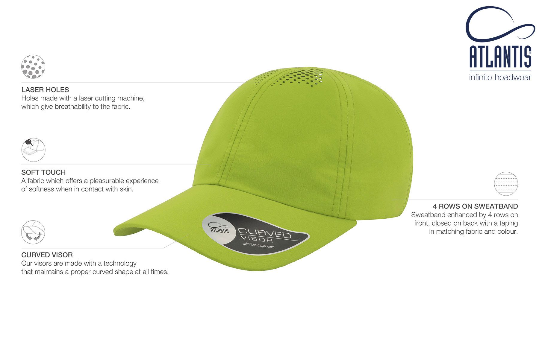 Air Green In 2021 Polyester Fabric Cap Fabric
