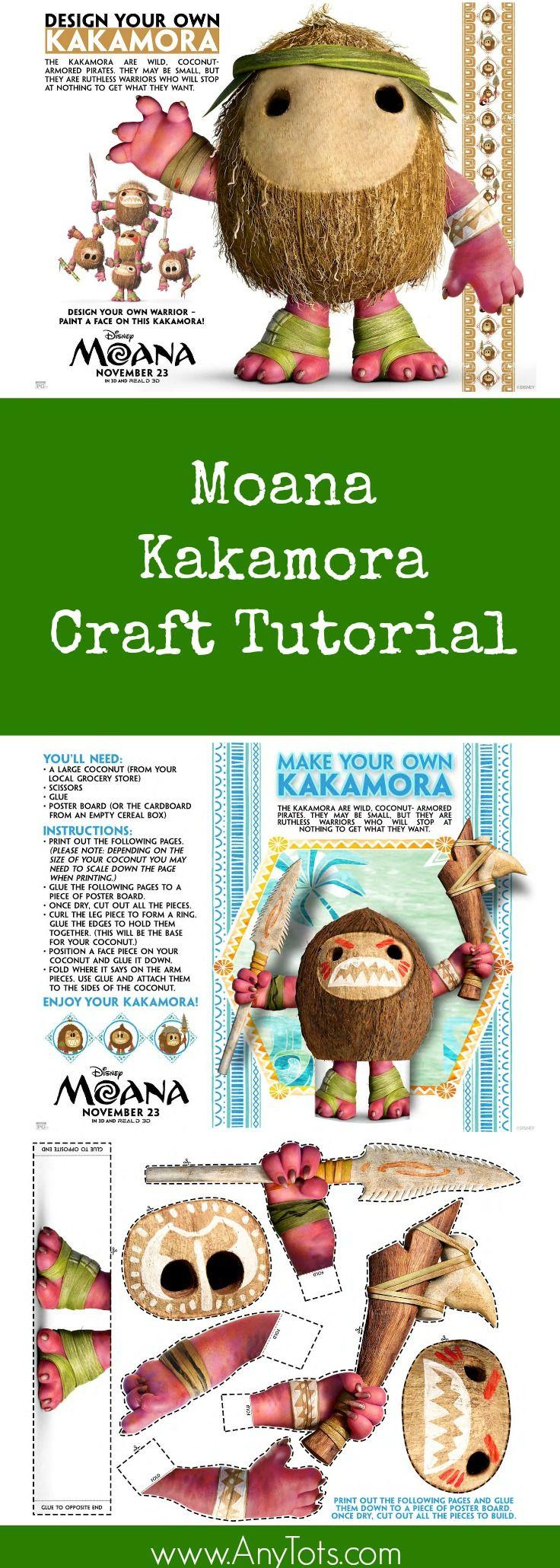 Moana craft kakamora craft tutorial great moana party decor as well