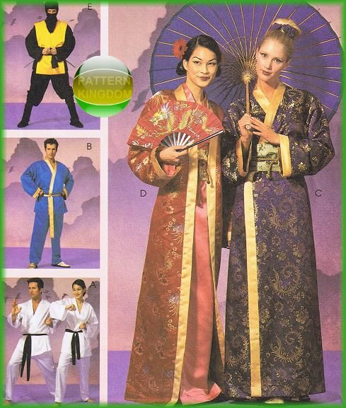 McCalls 2940 Oriental Geisha Kimono Ninja Karate Gi Patterns ...