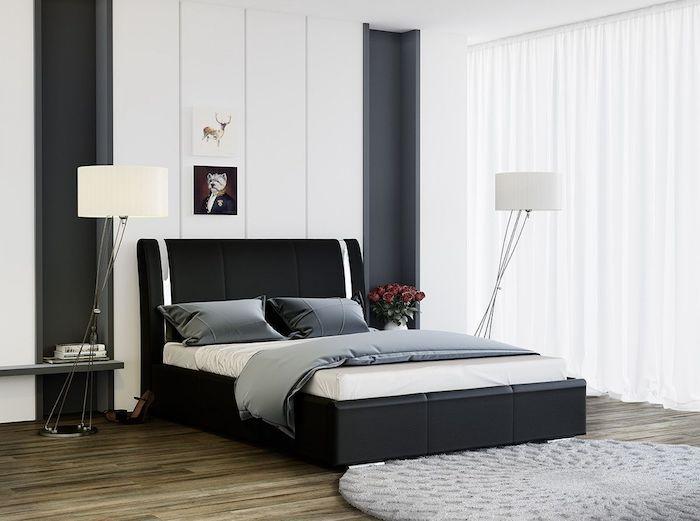 idee amenajare dormitor modern pat dormitor negru modern Idei - schlafzimmer set modern