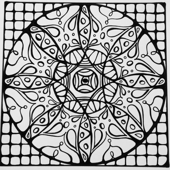 Mandala Coloring Page Hand Drawn Designs Inspired By Sacred