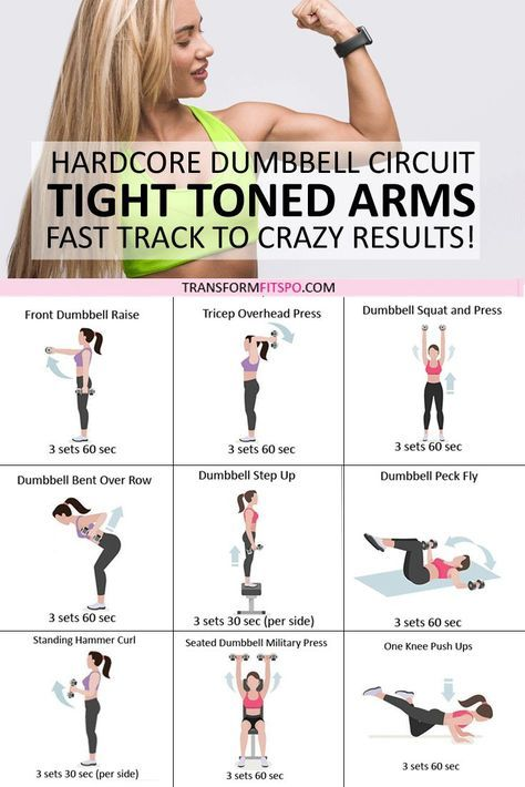 Tone and Tighten Your Arms! Dumbbell Progressive Circuit to Get CRAZY Results.. - Transform Fitspo