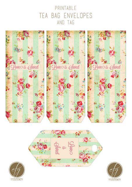 Free Printable Tea Bag Envelopes Tea Tag Tea Party