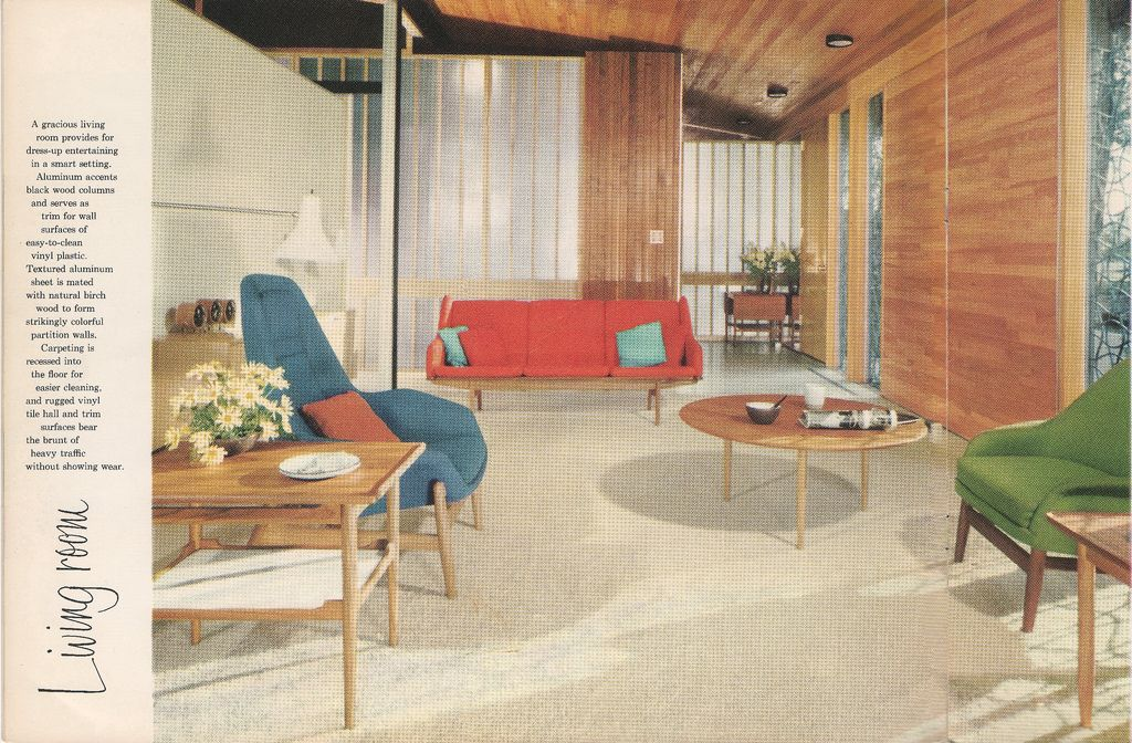 Excellent Color Scheme!! Our Care-Free Home The 1958 Alcoa Care - wohnzimmer modern eingerichtet