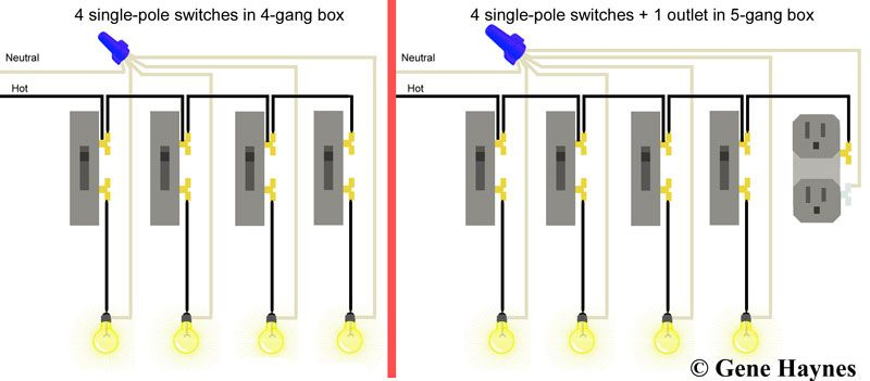 Wiring Diagram For 4 Gang Light Switch - Service Repair Manual on