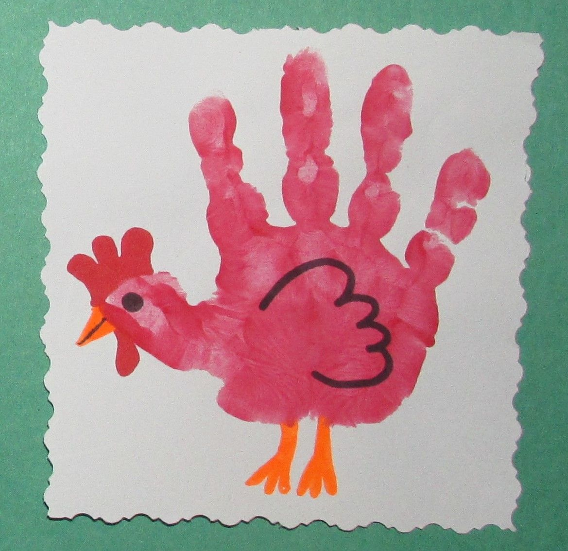 Rooster Handprint