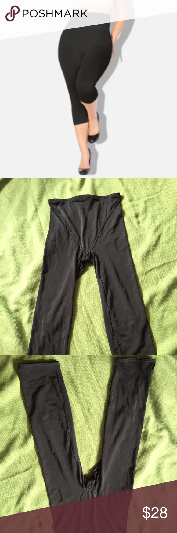 8282d50446b Flexees Shaping Capri Leggings Black 2XL Hi Waist Tummy control shaping  capris by Flexees. In good condition