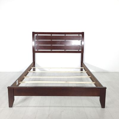 Seattle Queen Bed From Coaster Contemporary Wooden Bedframe In A Rich Dark Finish Includes A Headboard Side
