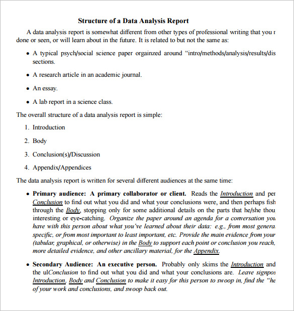 Analytical Report Template 3 Templates Example Templates Example Data Analysis Analysis Report Template