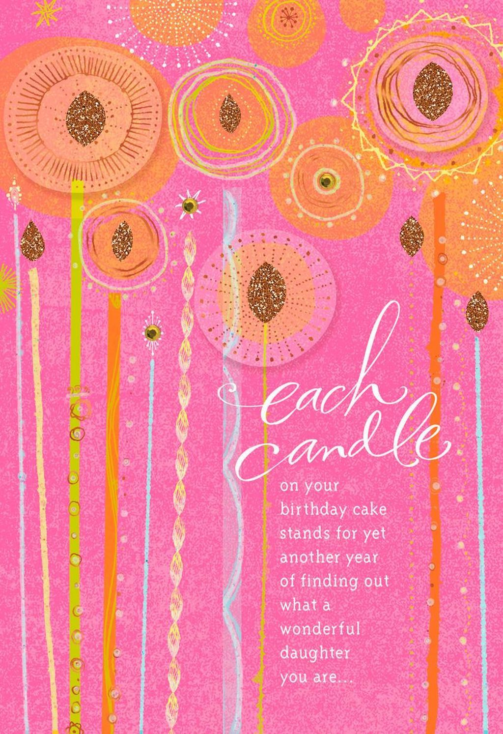 Candles on your cake birthday card for daughter birthday