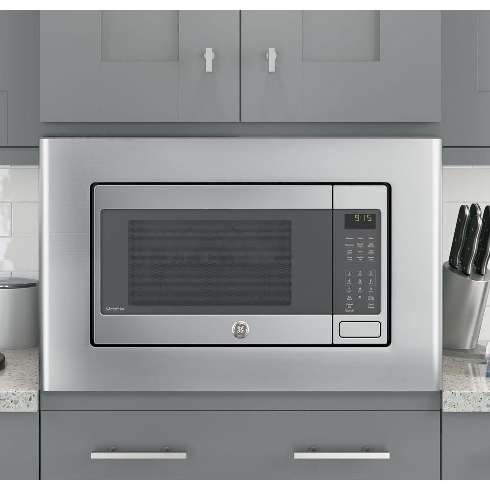 Ge Microwave Optional 30 In Built In Trim Kit In Stainless Steel