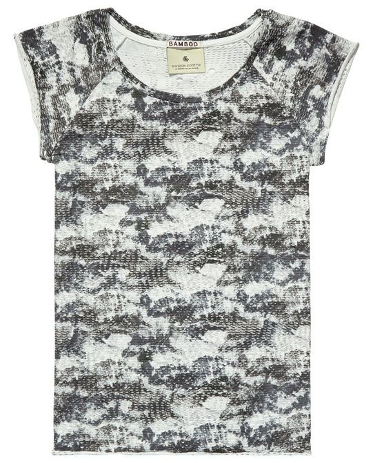 T-shirt imprimé en mesh - Scotch & Soda 55 eu kiff