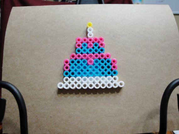 Birthday Cake Perler Bead Greeting Card Perler Beads