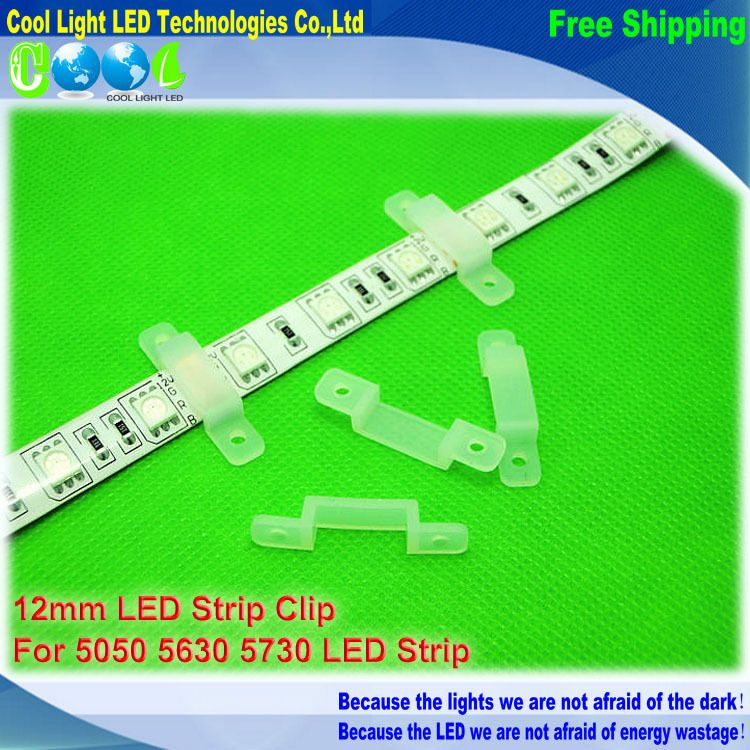 $1.60 (Buy here: http://appdeal.ru/8voe ) 10pcs/lot, 12mm led strip clip for 5050,5630,5730 led strip, silicon gel strip holder for just $1.60