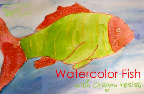 Watercolor Resist Tropical Fish | Camp | Art lessons