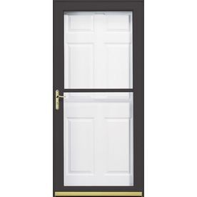 Pella 36 In X 81 In Brown 3800 Full View Safety Storm Door Lowes