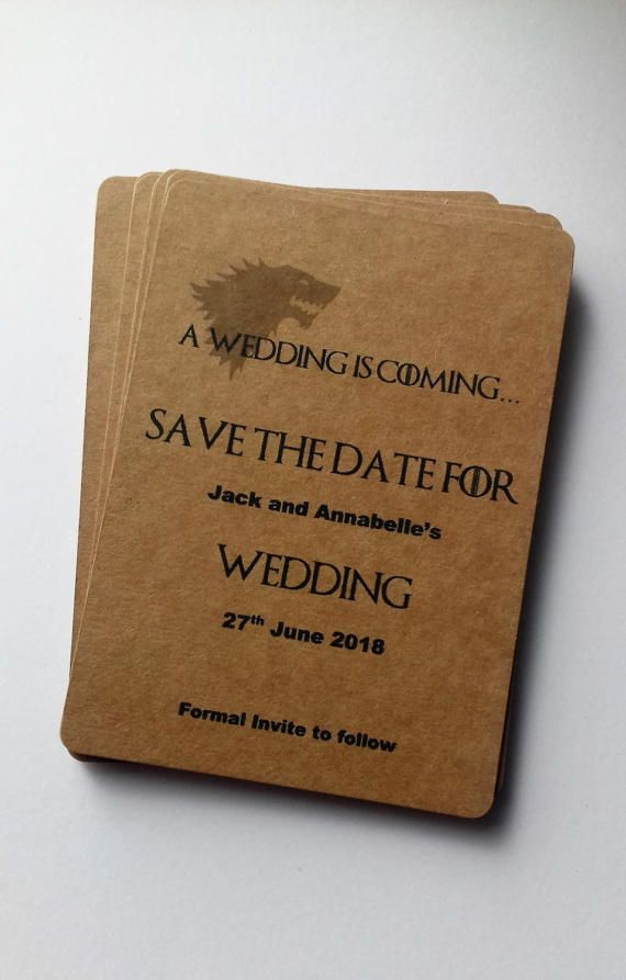 Games of thrones invites. Save the date tags, wedding invitations, Geek save the date, Game of thrones save the date