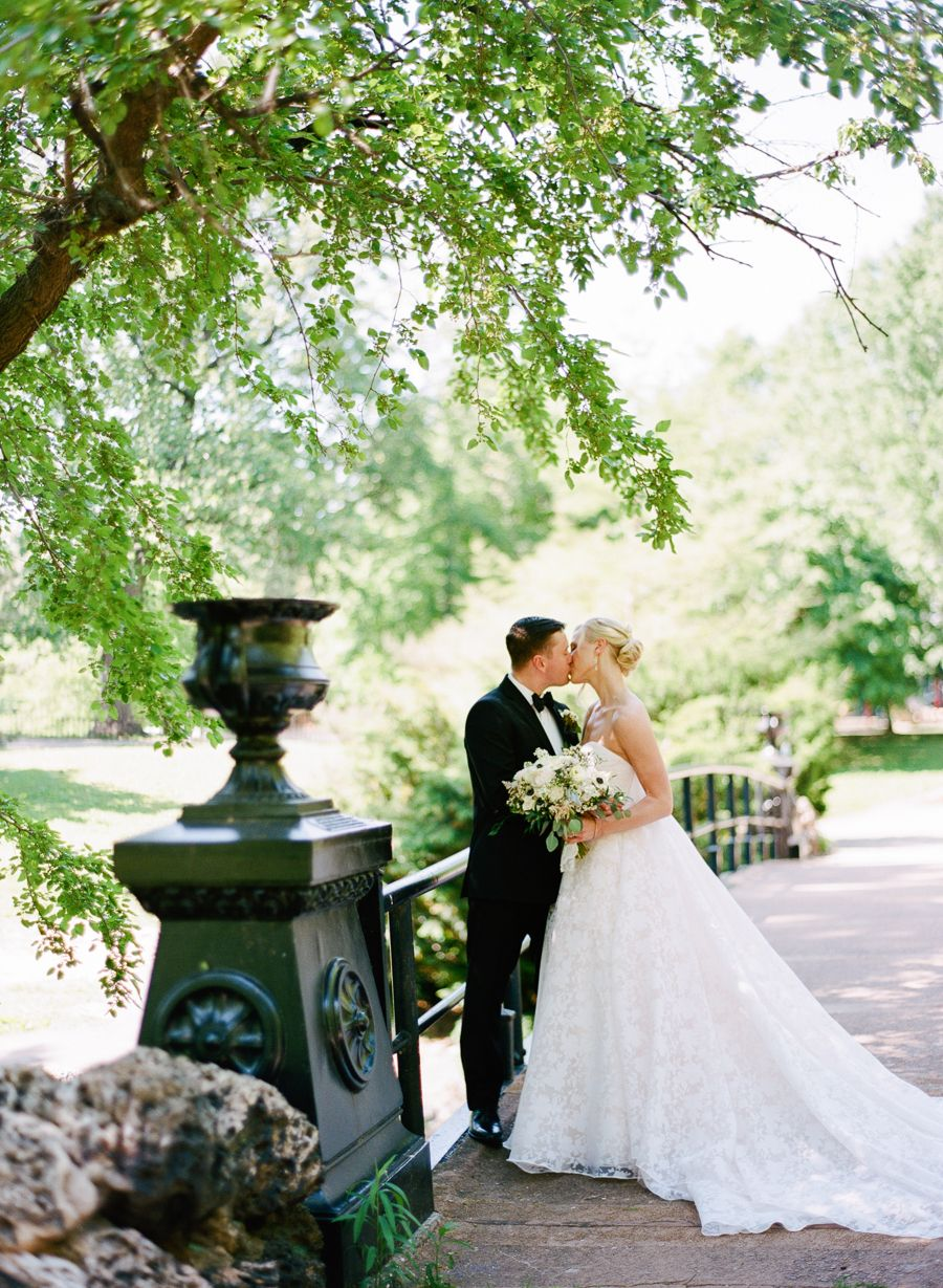 Historic neighborhood of St. Louis wedding: Photography: Shelly Goodman - www.shellygoodmanphotography.com   Read More on SMP: http://www.stylemepretty.com/2016/10/13/historic-neighborhood-wedding-with-pastel-florals-sheer-floral-gown/