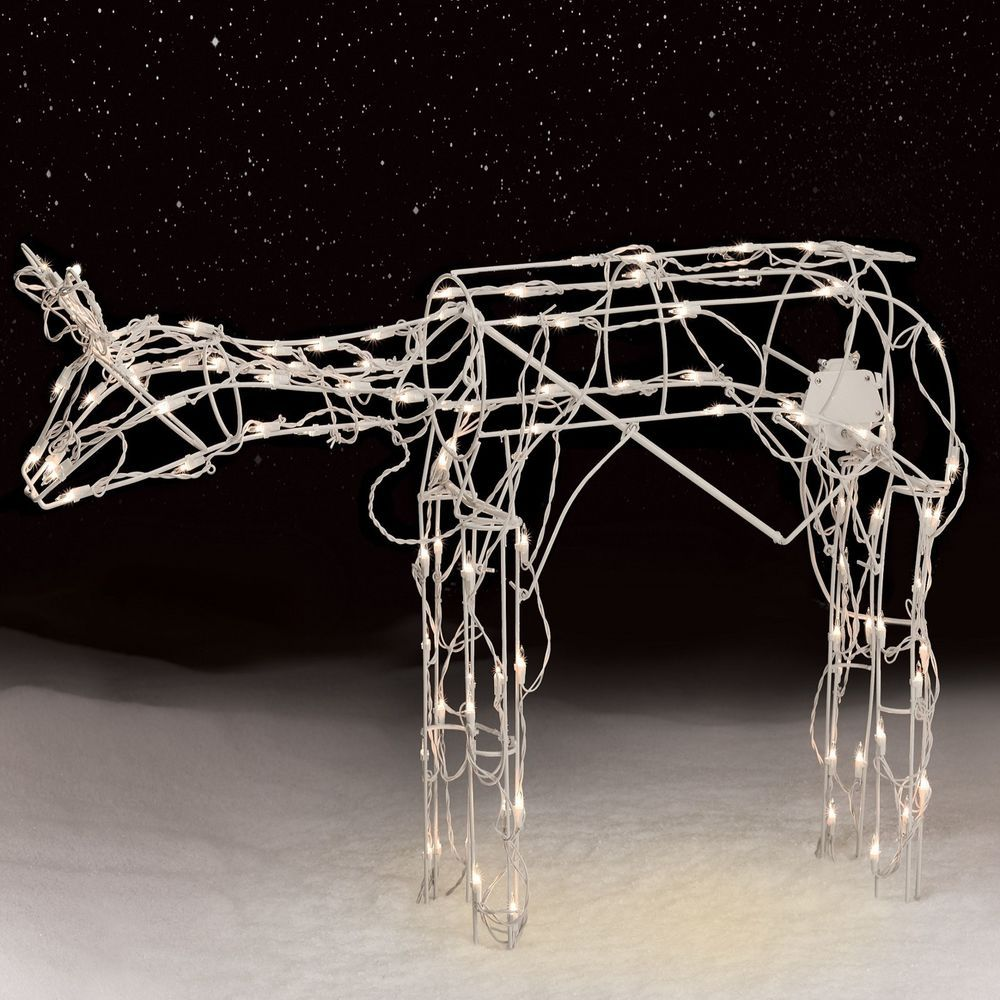 outdoor christmas decoration lighted yard 42 105lt animated grazing doe new