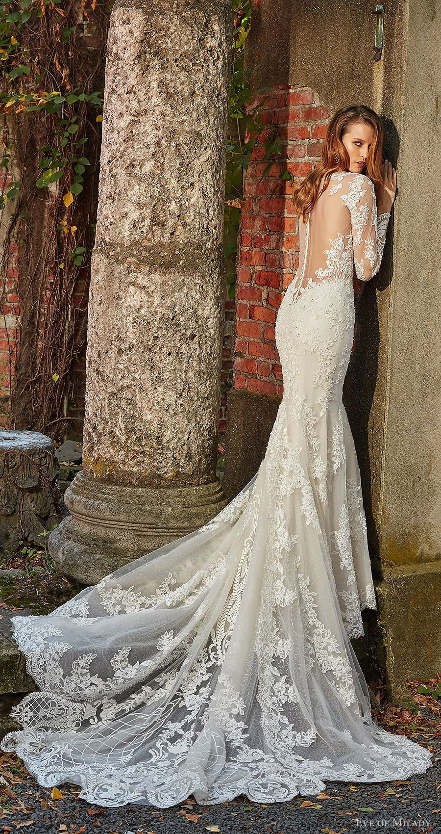 Fit and flare lace wedding dress  Eve of Milady Boutique Spring  Wedding Dresses  Robes de Mariée