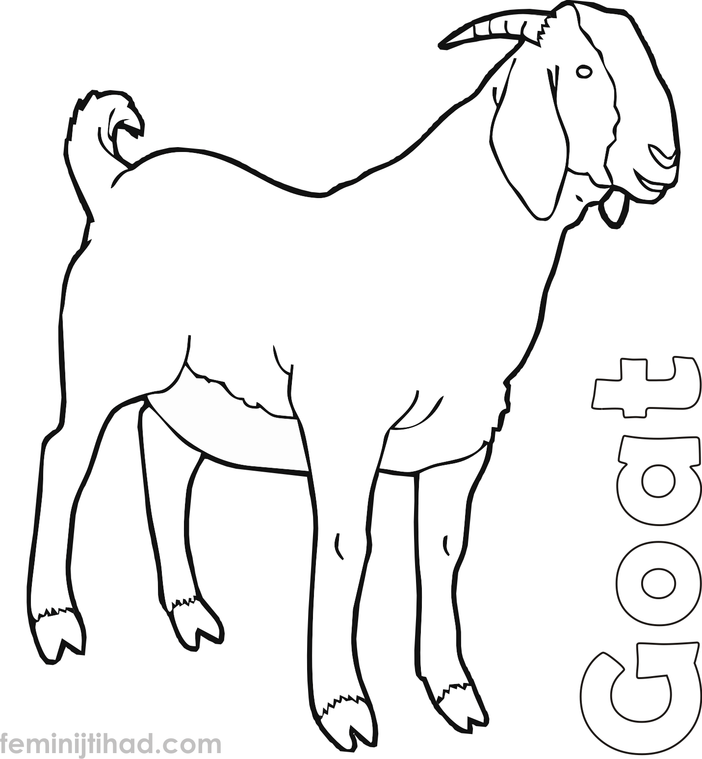 Cute Goat Coloring Pages Printable Cute Goats Animal Printables Animal Coloring Pages