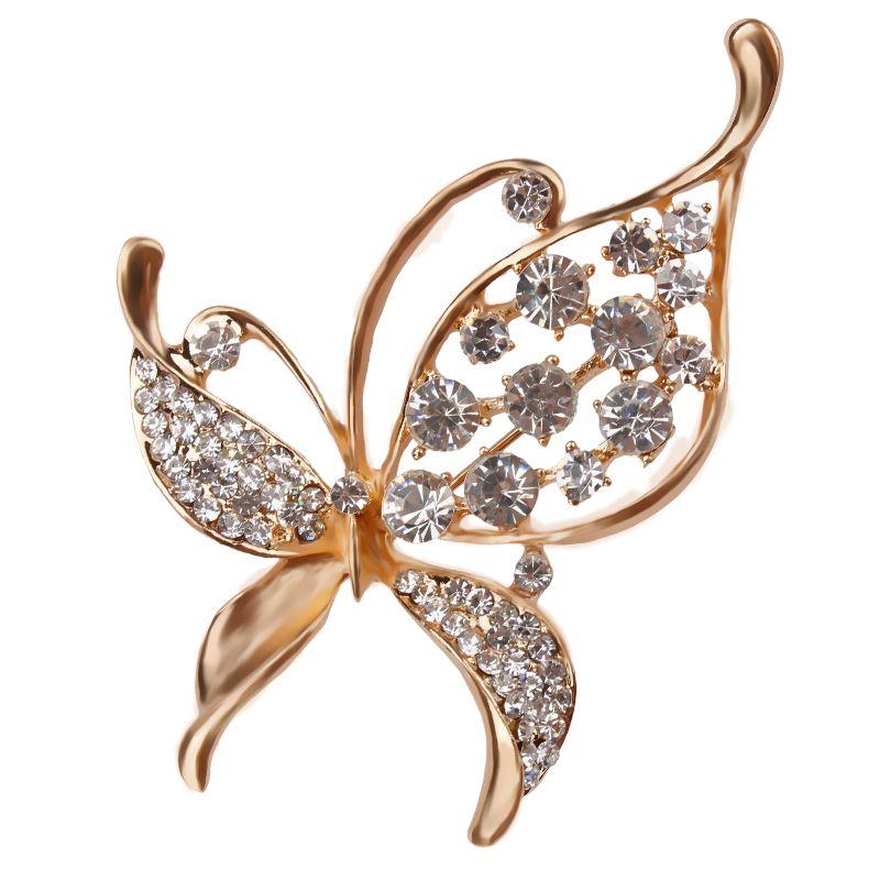 Rhinestones di cristallo Assortiti Farfalla Spilla Pins Monili di Costume di Modo per Le Donne o Ragazze