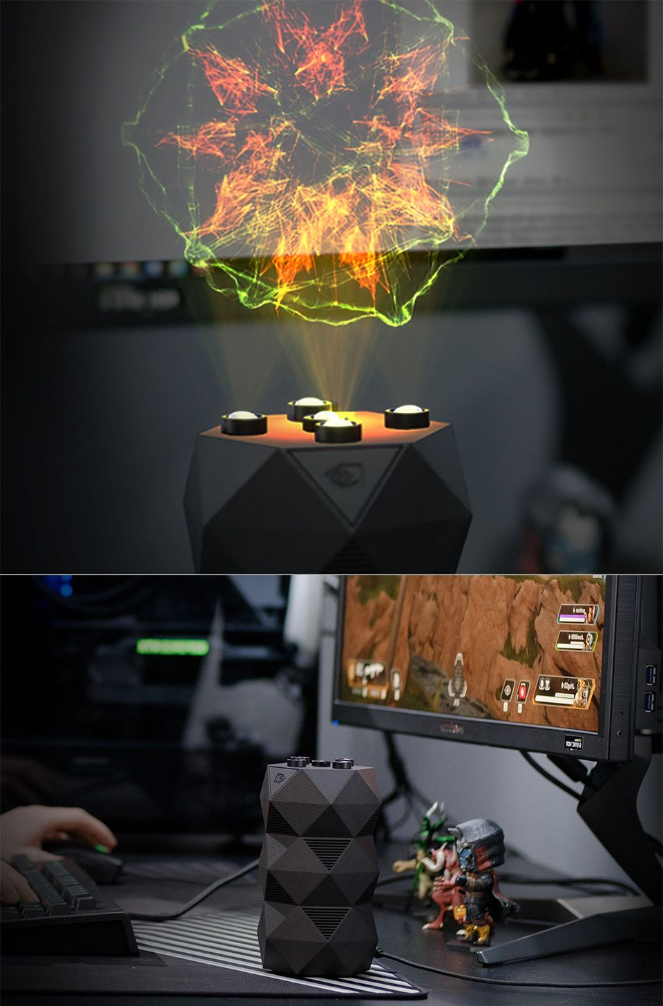 NVIDIA GeForce RTX R O N , the World's First AI Holographic Gaming