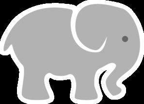 Light Grey Baby Elephant clip art - vector clip art online ...