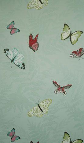 papier peint bleu motifs papillons farfalla nina. Black Bedroom Furniture Sets. Home Design Ideas