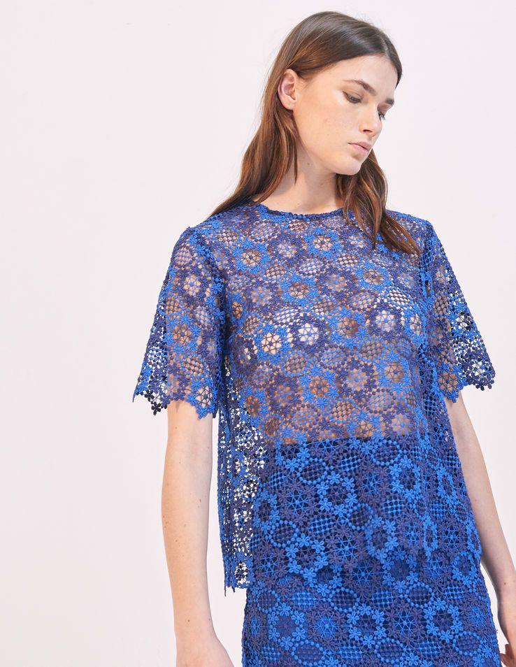 Floral Lace Top Tops Shirts Sandro Paris Com Floral Lace Tops Tops Lace Top